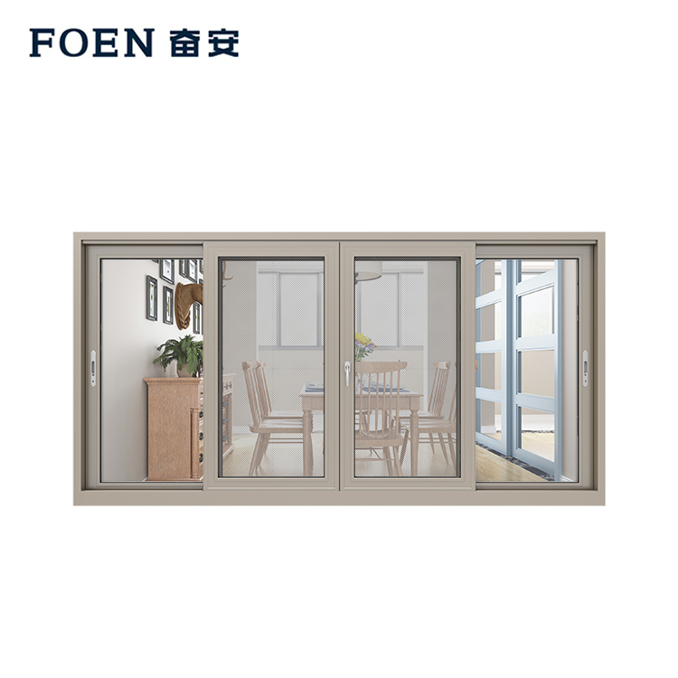 3 track aluminium sliding window